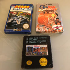 3x rare boxed NES game including  Turbo Racing , 260 in 1 cassette and more