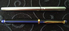 Daniel Hechter fountain pens blue/black and silver Waterman.