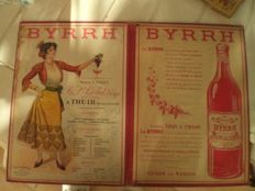 Advertising cardboard for VIN APERTITF BYRRH 1930