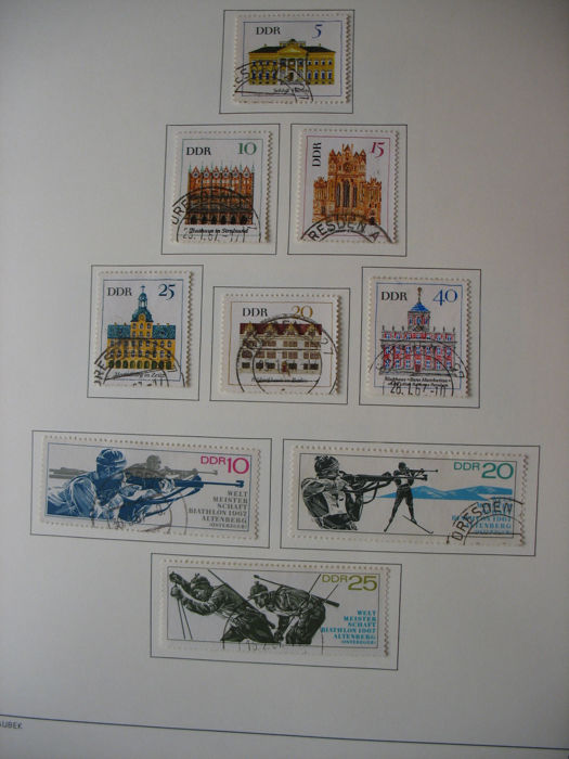 GDR 1967/1990 – collection in 2 old pre-print albums