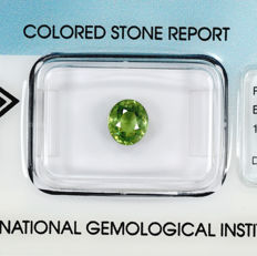 Demantoid garnet - 1.19 ct