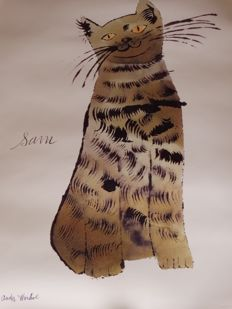 Andy Warhol (after)- Cat Sam