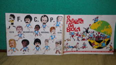 "Variant Panini - ""Planeta da Bola"" (caricatures of football players from the 1st division) - 1980 - Full Album."
