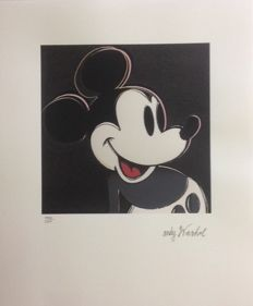 Andy Warhol (after) - Lithograph CMOA - Mickey Mouse (1986)