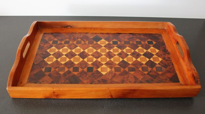 Marquetry tray - France - Mid 20th Century
