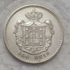 Portugal -- Monarchy -- D. Maria II -- 500 Reis -- 1848 -- Silver -- Above average -- Rare in this condition