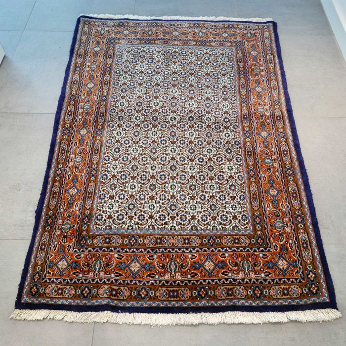 Beautiful Mud/Moud with silk, Persian rug - 155 x 107 - unique colour combinations