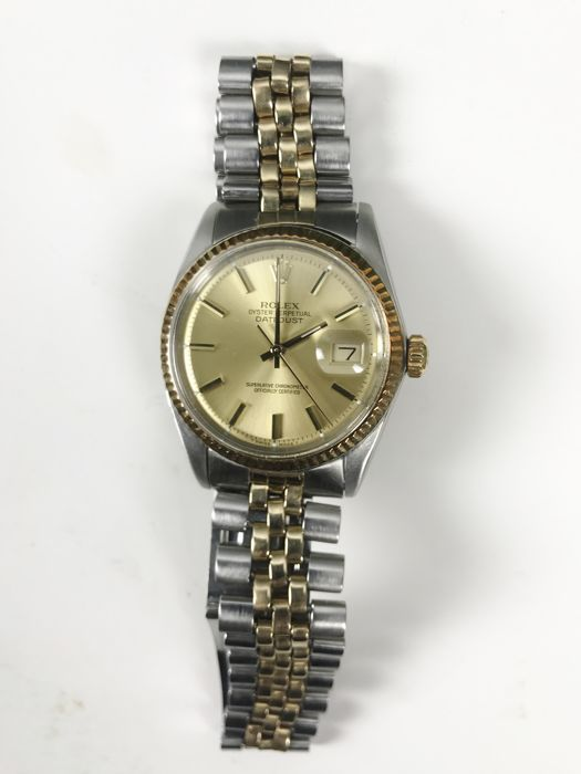 Men's Rolex  Yellow Gold and Stainless Oyster perpetual Datejust wrist watch 1960s No reserve