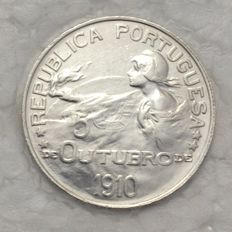 Portugal - Republic - 1$00 - SD (1914) - October 5th, 1910 - Silver - Fantastic