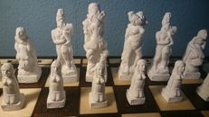 Chess; 32 Kamasutra rough chess figures - end of the 20th century