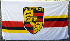 Original Porsche  flag - banner approx 80s - as new - 250 x 150 cm
