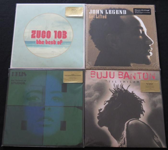 Zuco 103 / John Legend / Kelis / Buju Banton: 4 great albums (6LP's) of which 3 are on limited, numbered and coloured vinyl. All long deleted editions....all on 180 gram vinyl!