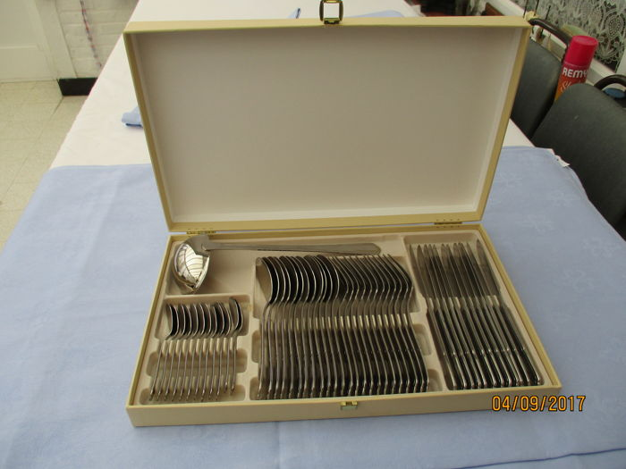 AMEFA 18/0 - 49 piece cutlery for 12 people in beige box.
