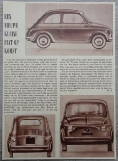 Fiat 500 - Lot of 10 Advertisements from 1957 to 1968