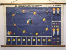 School poster Moon phases of the moon / the movements of the earth: the seasons