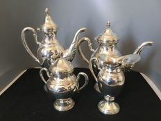 Tea ad coffee set in silver 800/1000 - Italy - mid 20th century