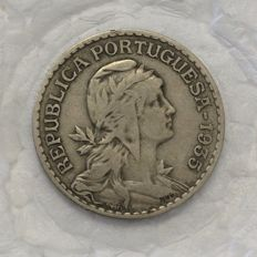 Portugal – Republic – 1 Escudo – 1935 – Alpaca – Rare – Above average