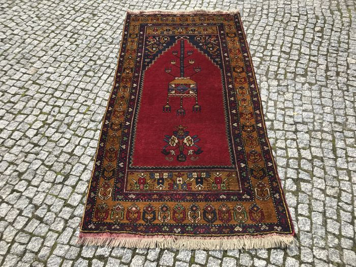 Old ANATOLIAN / TURKISH / TURKEY Rug Hand knotted 214x105 cm