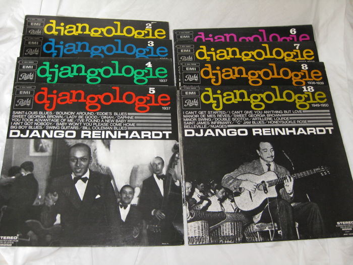 Django Reinhardt - lot of 8 albums.