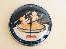 Barilla advertising clock based on Adolfo Busi's 1930s sketch