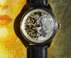 Marilyn Monroe Molnija XL skeleton marriage wrist watch