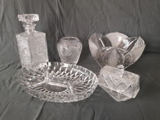 Collection of 5 different lead crystal objects