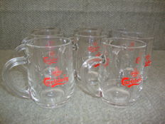 8 Carlsberg Beer Glass Mugs