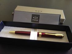 Parker sonnet ballpoint, Lacquered in red, new with warranty