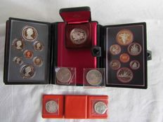 Canada - Lot of coins: 19 coins in silver and various ones (nickel, bronze, copper) from 1962 to 1982