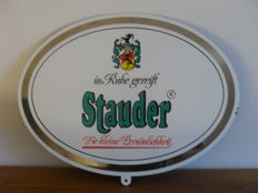 Enamelled plate for the German beer brand Stauder - 1985 -.