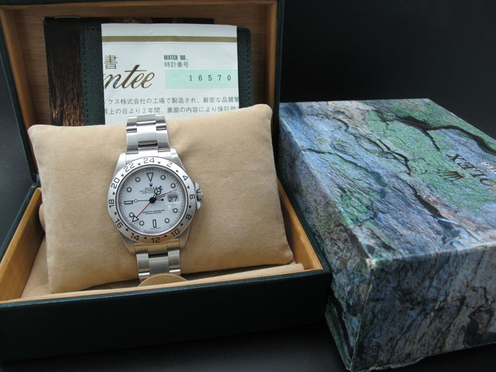 2001 ROLEX EXPLORER 2 16570 WHITE DIAL WITH BOX AND PAPER , Catawiki