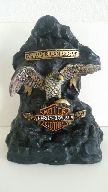 Large and Heavy Harley Davidson Sculpture (6kg)