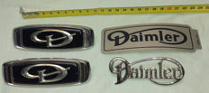 Collection of Daimler emblems - NOS (new old stock)