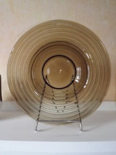 Daum - Large Art Deco flat plate on a stand