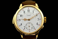 A unique and superb A. Lange & Sohne minute repeating marriage watch - ca 1900