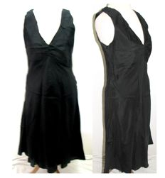 Paul Smith black silk dress with rucheting