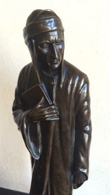 R. Kirchner - a large bronze sculpture of the Italian poet Dante - Austria - approx. 1910