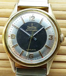 ZentRa 2-Tone Automatic 25 Rubies -- Men's wristwatch from 1950s