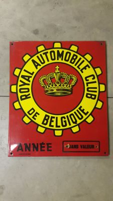 """Royal Automobile Club de Belgique"" sign, 1990s"