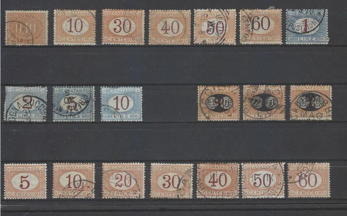 Kingdom of Italy 1869/1903 - Lot of postage due stamps