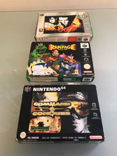 3 boxed N64 games including rare game Rampage