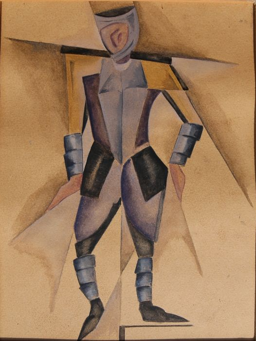 Anonyme - (20th century) - Costume study/ The knight