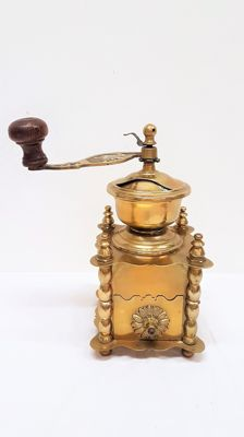 Copper coffee grinder, France 1930
