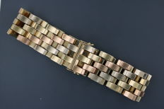 Tricolour bracelet made of 14 kt yellow, white and rose gold, 19.5 cm