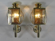 Two copper carriage lamps - 2nd half of the 20th century
