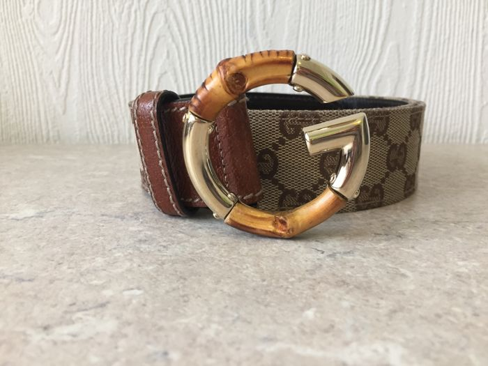 Gucci Monogram Bamboo G Belt