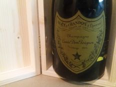 1973 Dom Perignon Vintage Champagne - 1 bottle (75cl) with wood box