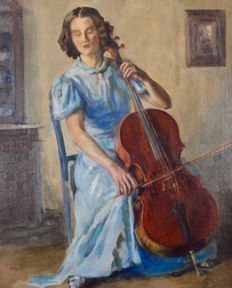 Raymona Lenox Jeltes (20th century). - The Cellist