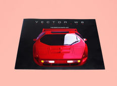 Vector W8 1992 and Vector Avtech WX3-R roadster/coupé  brochure and presskit. PLUS a rare PR-sheet of the first Koenigsegg super sports car prototype 1996/97-