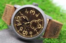 Timberland Men's - Stainless Steel - Multi Dial - Brown Leather Strap Watch - New